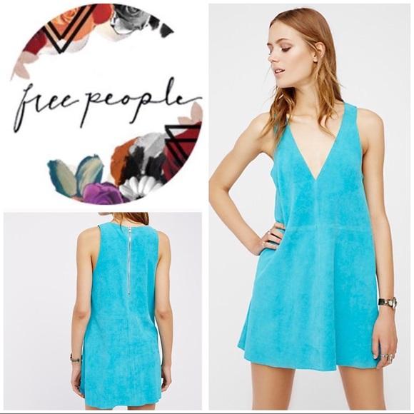 4ea2d946b Free People Dresses | Retro Love Suede Mini Dress | Poshmark